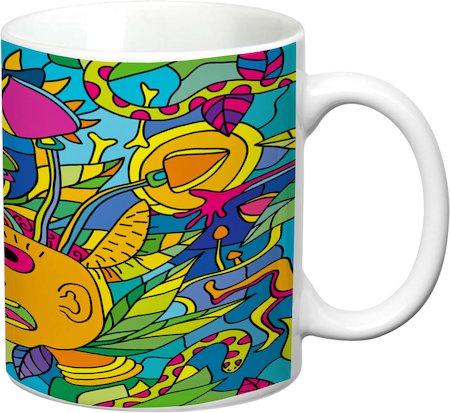 Prithish Pscyhedelic Designs 1 White Mug