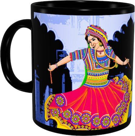 Kolorobia Graceful Garba Classic Black Mug