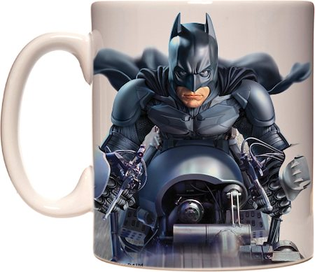 Warner Brothers Batman batpod With Logo Mug