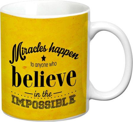 Prithish Miracles Happen White Mug
