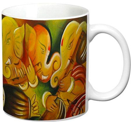 Prithish Ganpati Bappa Design 2 White Mug