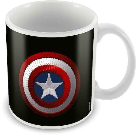 Marvel Captain America Black Ceramic Mug