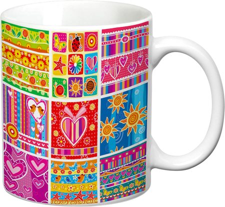 Prithish Abstract Design 39 White Mug