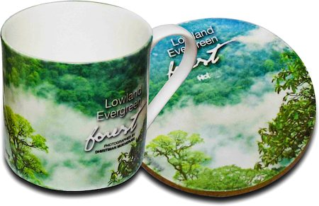 Hot Muggs Wild Focus Forests - Arunachal Pradesh, Mug & Coaster - set of 4