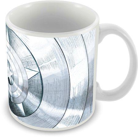 Marvel Captain America - 75 Years Logo Design Ceramic Mug