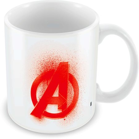 Marvel Avengers Logo Red Ceramic Mug