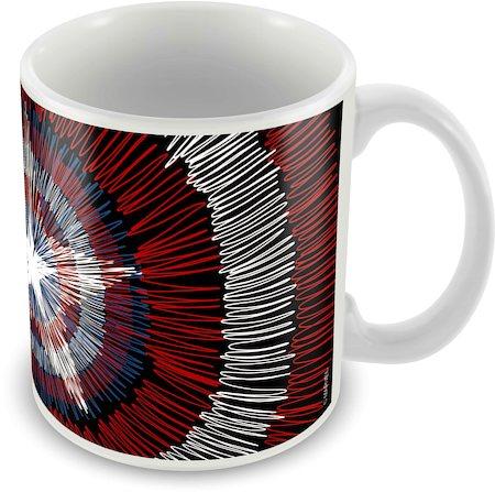 Marvel Captain America - 75 Years Logo Ceramic Mug