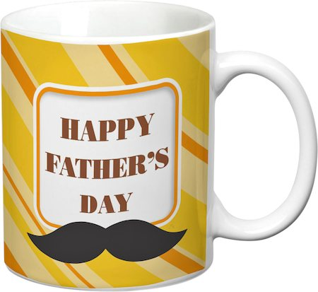 Prithish Happy Father's Day Design 2 White Mug