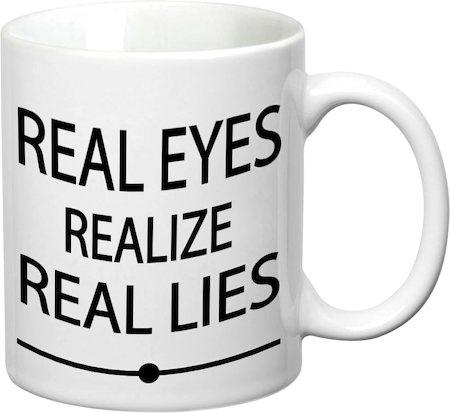 Prithish Real Eyes White Mug