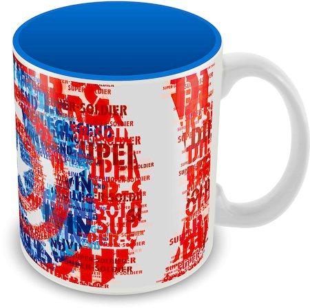 Marvel Captain America Blue Art Ceramic Mug