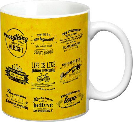 Prithish Motivational Design 3 White Mug