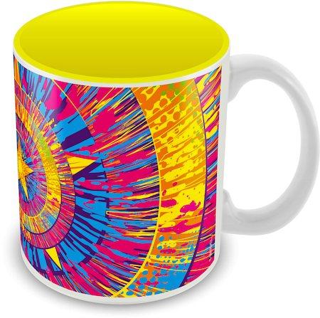 Marvel Captain America Yellow Ceramic Mug