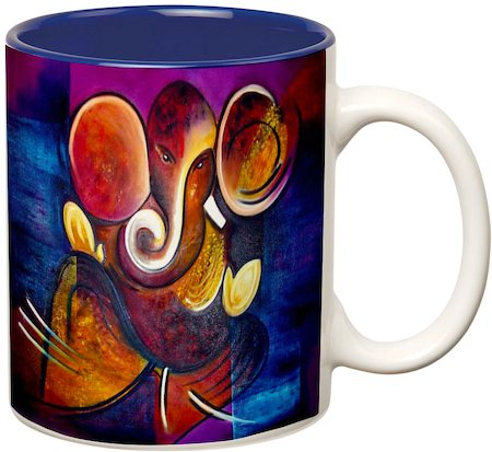 Prithish Ganpati Bappa Design 3 Double Color Mug