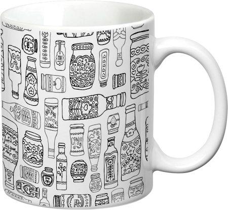 Prithish Bottles Design 1 White Mug