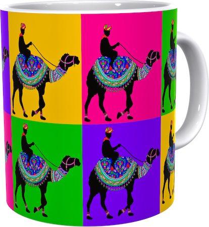 Kolorobia Vintage Camel Classic White Mug