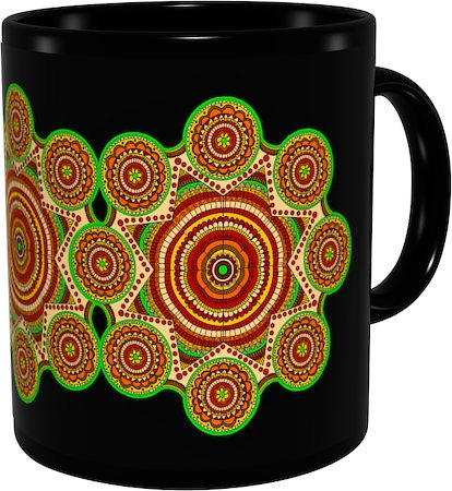 Kolorobia Classical Maithila Classic Black Mug