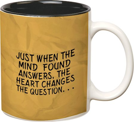 Prithish The Heart Changes The Question White Mug