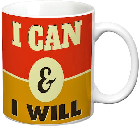 Prithish I Can And I Will White Mug