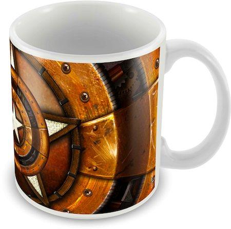 Marvel Captain America 75 Years Design Art Ceramic Mug