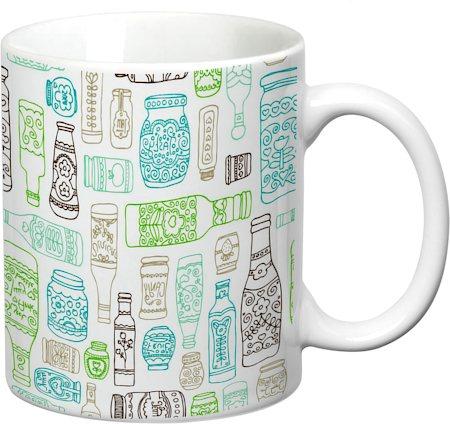 Prithish Bottles Design 2, White Mug