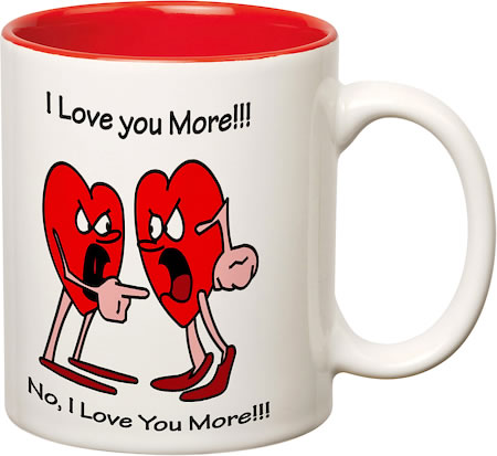 Prithish I Love You More White Mug