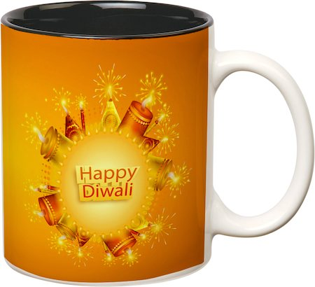 Prithish Diwali Design 1 Double Color Mug