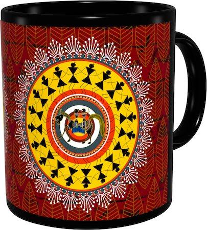 Kolorobia Tribal Warli Classic Black Mug