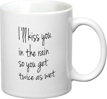 Prithish Kiss You In The Rain White Mug