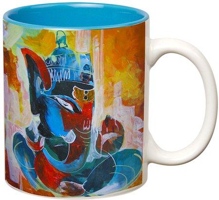 Prithish Ganpati Bappa Design 5 Double Color Mug