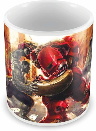 Marvel Hulk Vs Hulk Buster Ceramic Mug