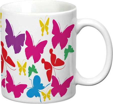 Prithish Colourful Butterflies White Mug