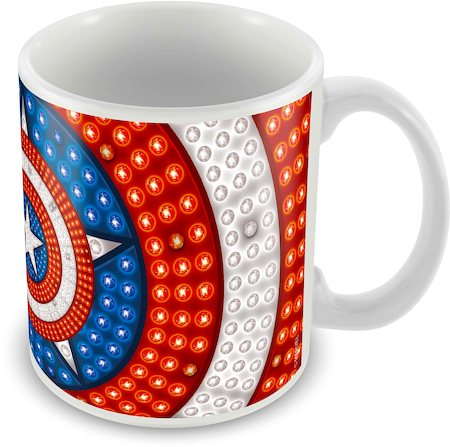 Marvel Captain America Art Ceramic Mug