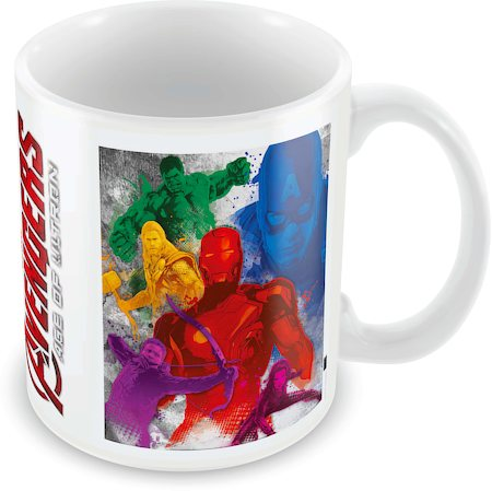 Marvel Avengers Colored Ceramic Mug