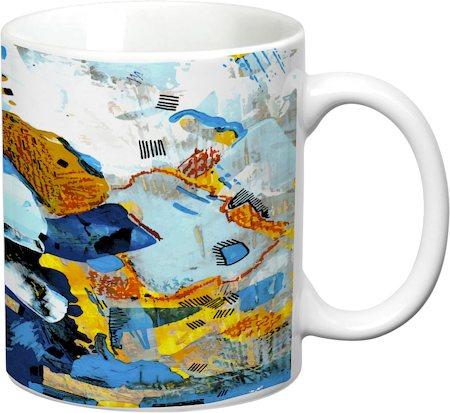 Prithish Abstract Design 43 White Mug
