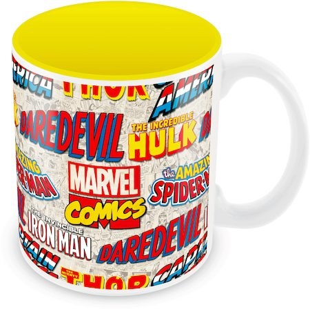 Marvel Comics Logos Ceramic Mug