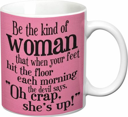 Prithish Oh Crap ! She's Up White Mug