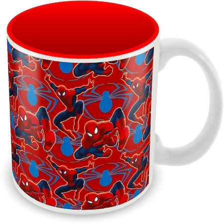 Marvel Spider-Man Red Collage Ceramic Mug