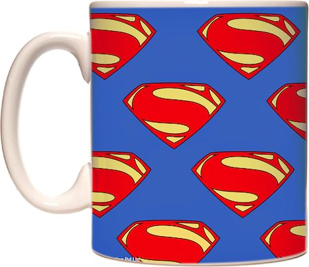 Warner Brothers Superman 'Iconic Logo Collage Art' Mug