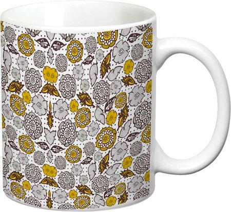 Prithish Floral Design 8 White Mug