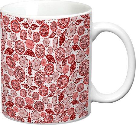 Prithish Floral Design 7 White Mug