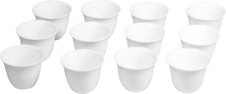 Wilmax ENGLAND Fine Porcelain Arabic Style Coffee Cup, 75 ml (White) - set of 12