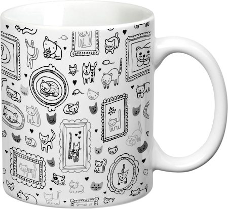 Prithish Cats Design 3 White Mug