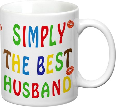 Prithish Simply The Best Husband White Mug