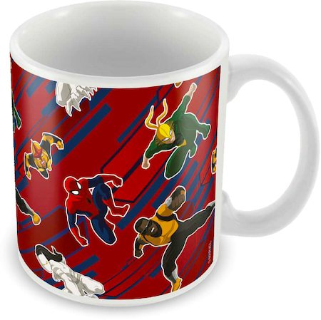 Marvel Ultimate Spider-Man Cast Ceramic Mug