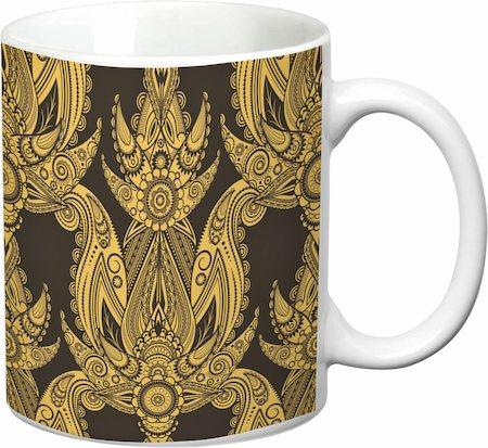 Prithish Abstract Design 11 White Mug