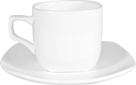 Wilmax ENGLAND Fine Porcelain Tea Cup and Saucer, 200 ml (White)