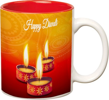 Prithish Diwali Design 5 Double Color Mug