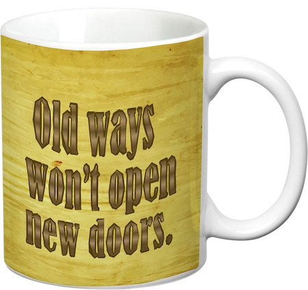 Prithish Old Ways New Doors White Mug