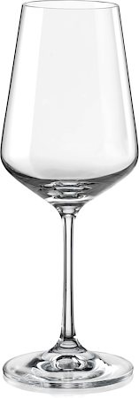 Bohemia Crystal Sandra Wine Glass, 350 ml - set of 6
