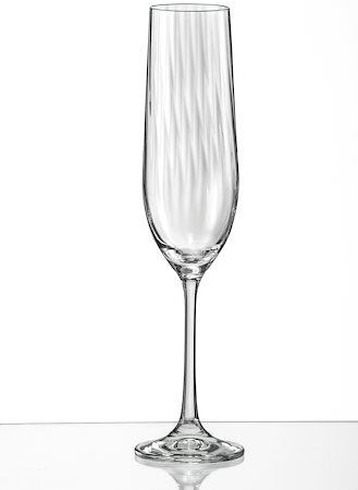 Bohemia Crystal Club Waterfall Champagne Flute, 190 ml - set of 6
